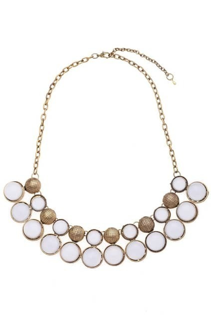 Multi Round Stone Necklace