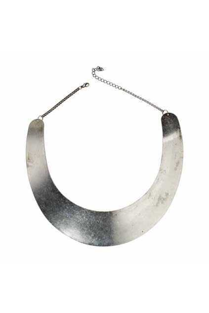 U Shape Silver Collar Necklace