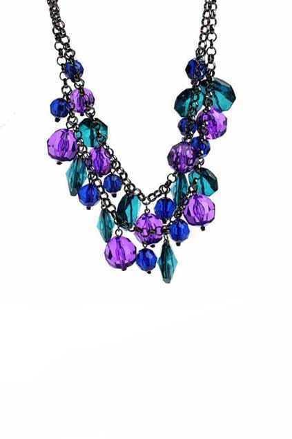 Purple And Blue Necklace Suit