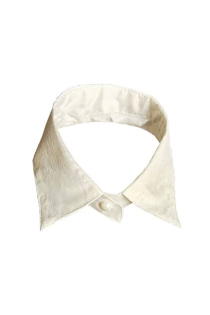 Lace Flower White Detachable Collar