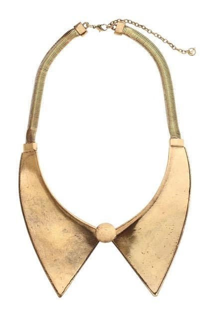 Metal Design Gold-tone Point Collar