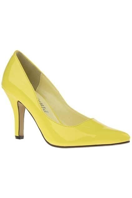 Sweet High Heel Yellow Shoes