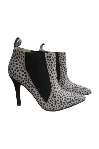 Leopard Print Cream-coloured Boots