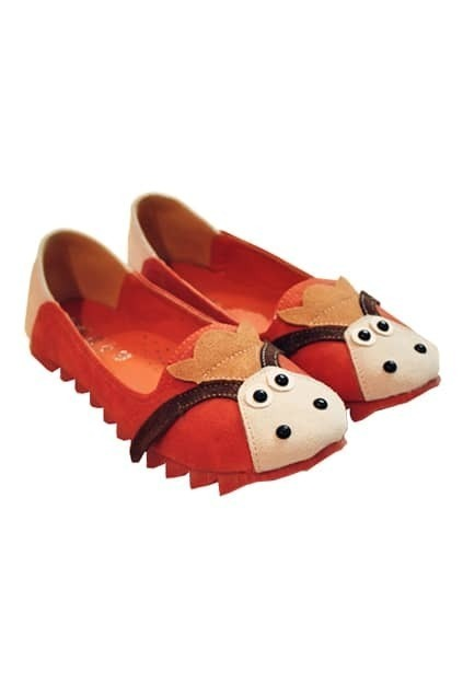 Cartoon Brown Flat Shoes