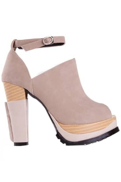 High Heel Apricot Shoes