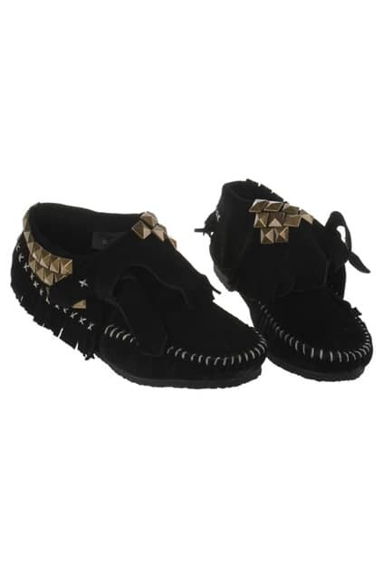 Rivets Black Plat Shoes
