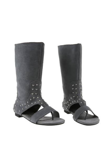 Punk Style Grey Sandal Boot