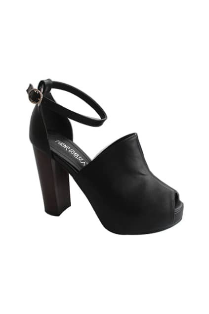 Platform High Heel Black Shoes