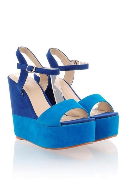 Gradient Blue Wedges Sandal