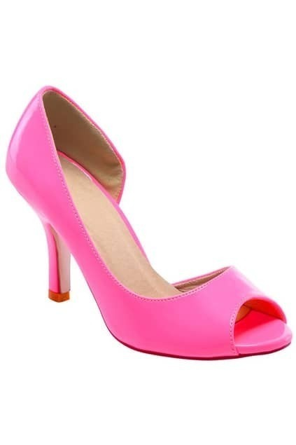 Peep Toes Heeled Rose Shoes