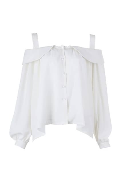 Off Shoulder White Blouse