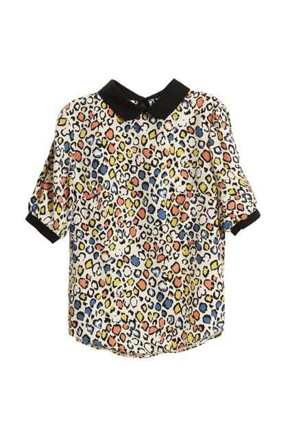 Retro Hollow Leopard Shirt