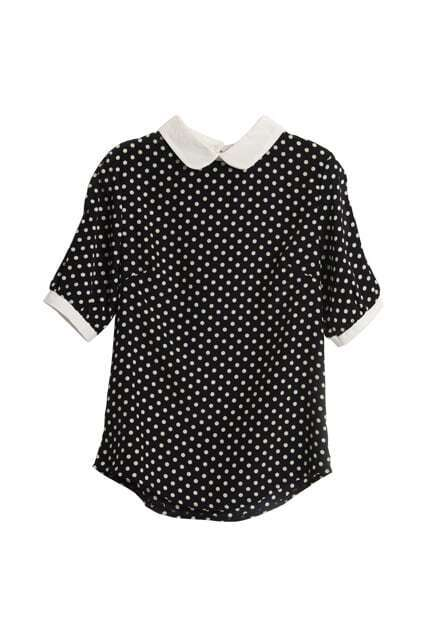 Retro Hollow Dots Shirt