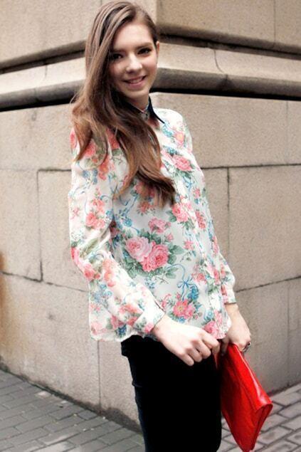 Retro Floral Print Shirt