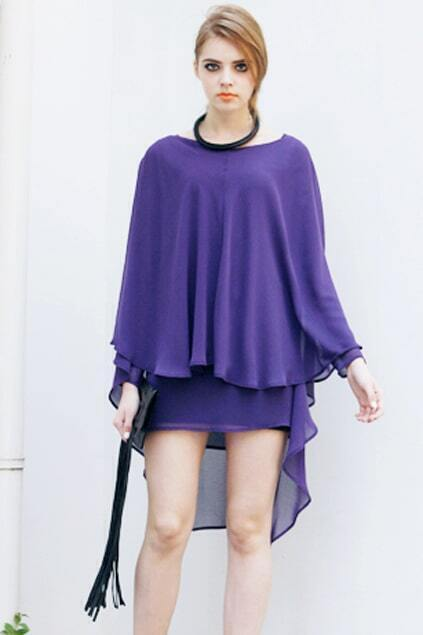 Anomalous Design Purple Blouse