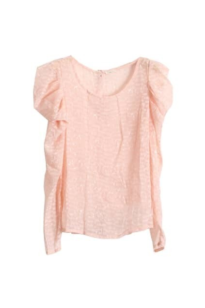 Puff Sleeves Pink Shirt