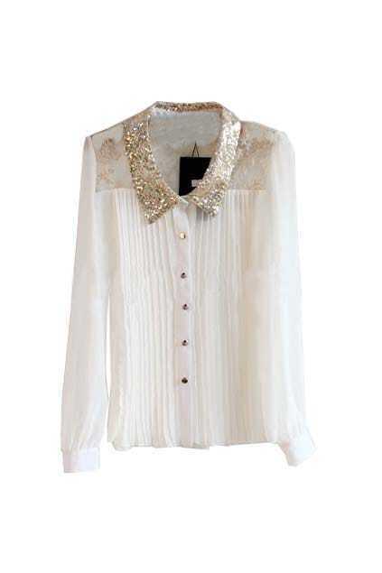 Peter Pan Collar White Shirt