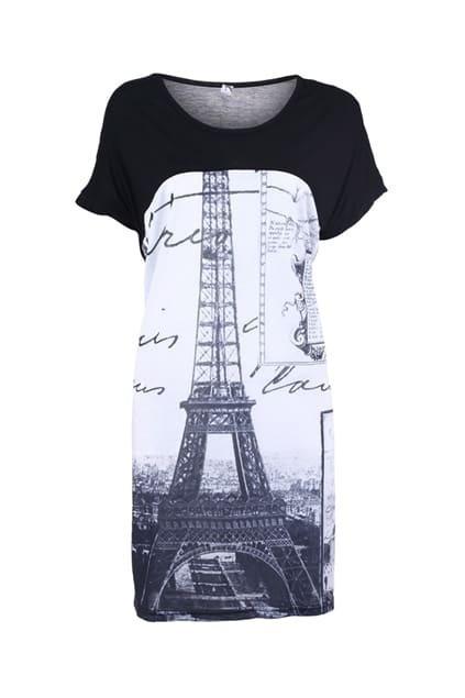 Tower Print T-shirt Dress