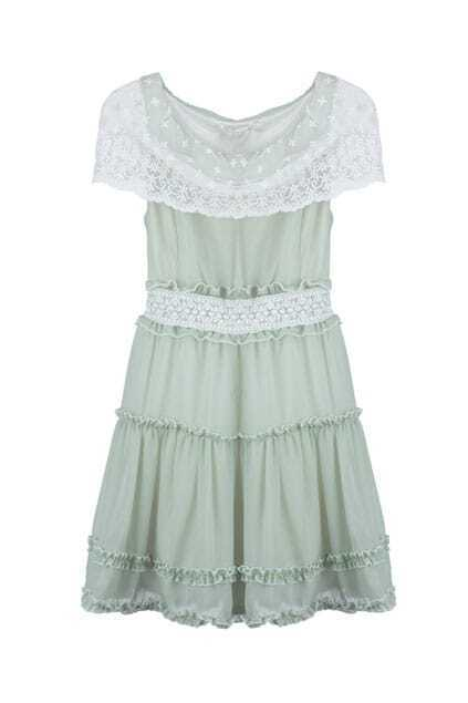 Lace Collar Sleeveless Dress