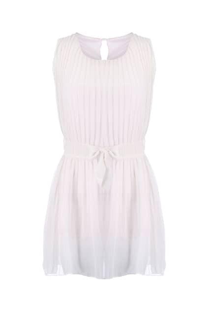 All Over Pleating Sleeveless Dress