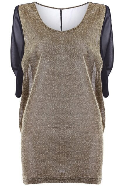 Metallic Main Cocoon Shift Dress