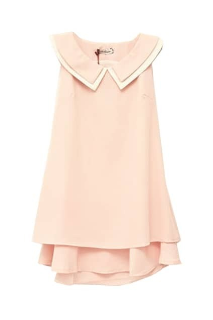Bowknot Sleeveless Pink Dress