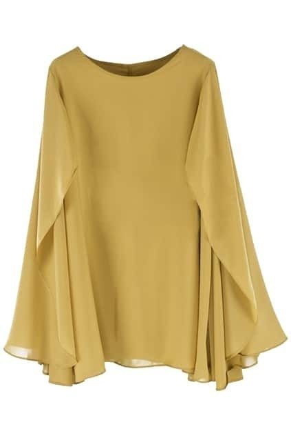 Cape Style Loose Ginger Dress