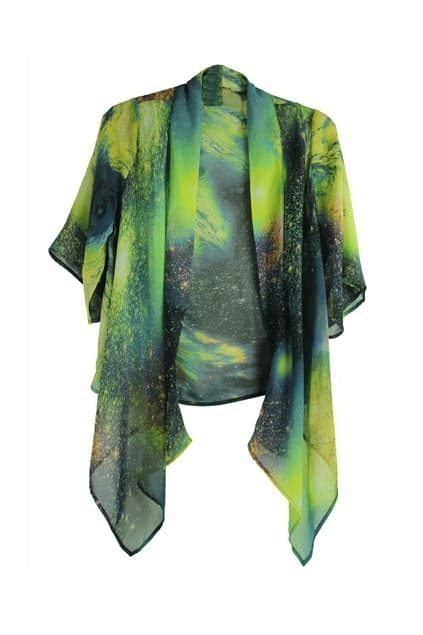 Starry Sky Print Coat