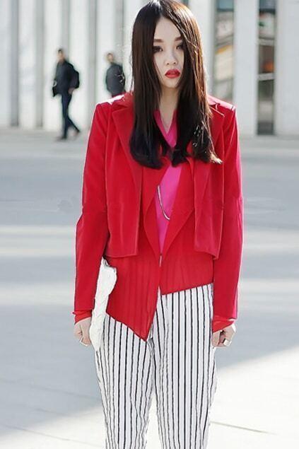 Anomalous Layered Red Coat