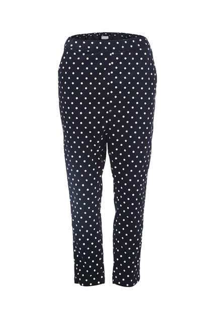 Contrast Dots Black Pants