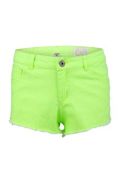 Eyelash Cuffs Fluorescent Green Shorts