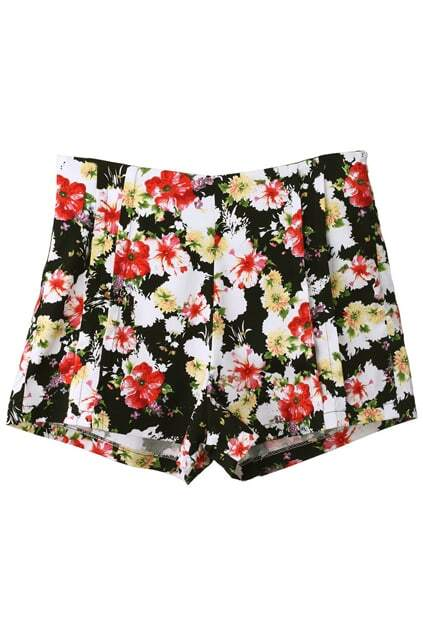 Retro Styling Floral Print Shorts