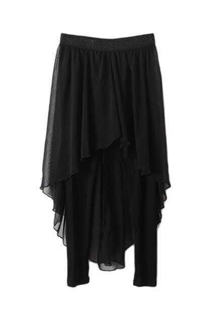 Anomalous Lower Skirt Black Legging