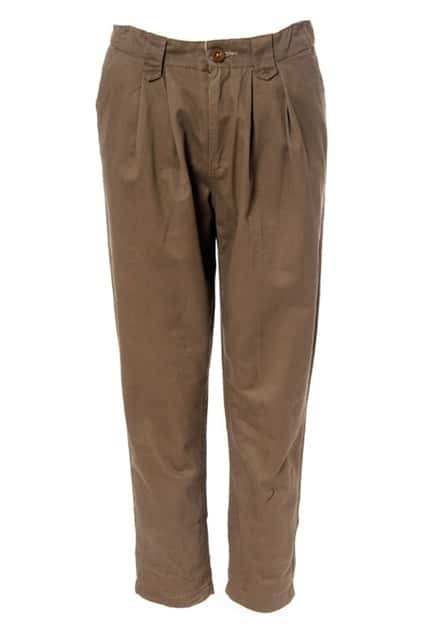 Oversized Cotton Green-brown Harem Pants