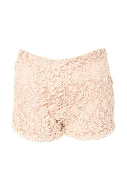 Retro Lace Trimming Shorts