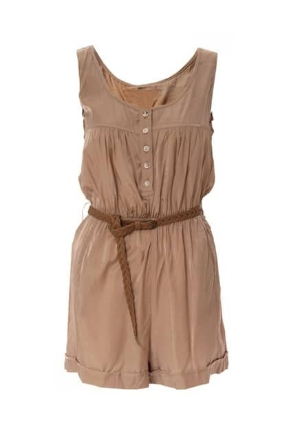 Sleeveless Light Gold Playsuit