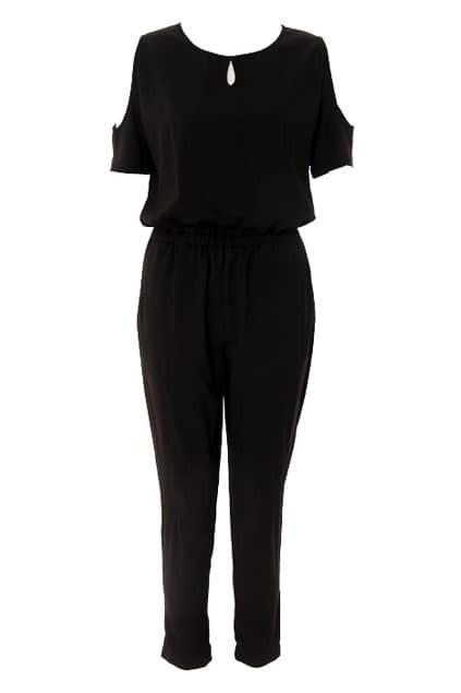 Off Shoulder Black Jumpsuit