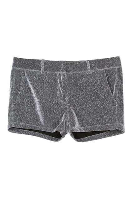 Metallic Silver-tone Shorts