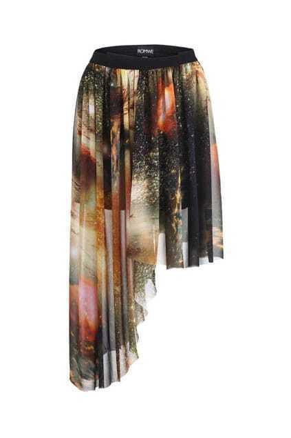 Mysterious Universe Asymmetric Skirt
