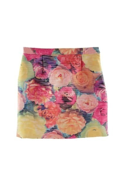 Colorful Flowers Short Skirt