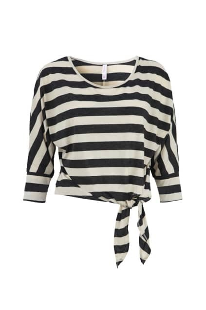 Half Sleeve Stripes Black T-shirt