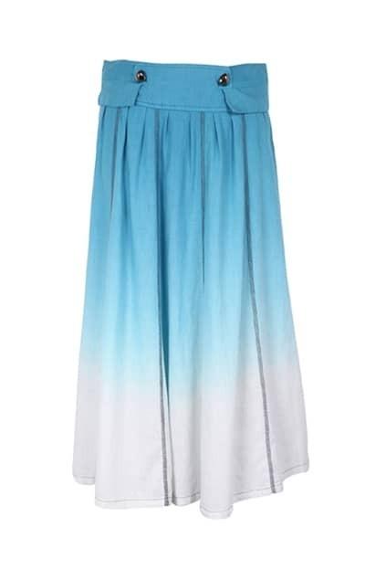 Gradient Effect Blue Skirt