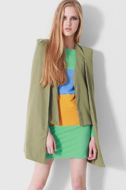 Hot Fashion Green Cape Blazer