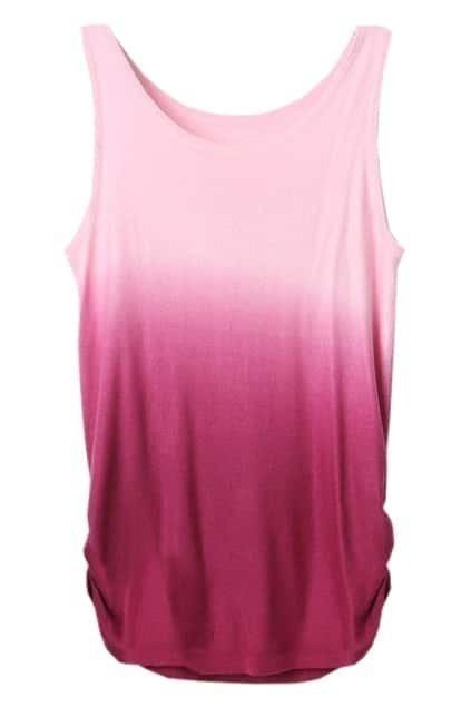 Gradient Effect Rose Vest