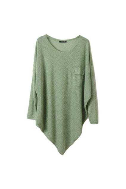 Montage Flap Pockets Green T-shirt