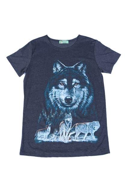 Wolf Head Oversized Dark-grey T-shirt