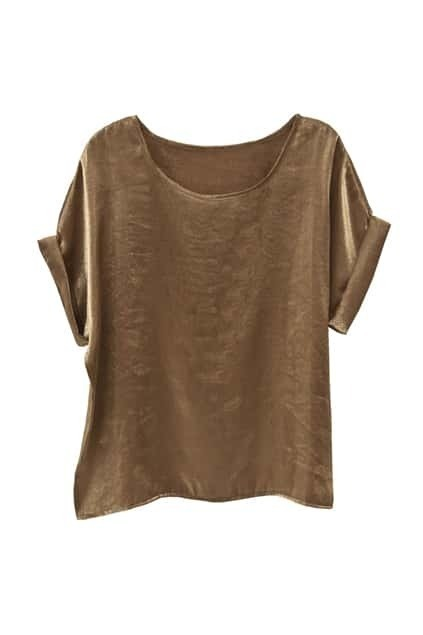 Oversized Short Sleeve Golden T-Shirt