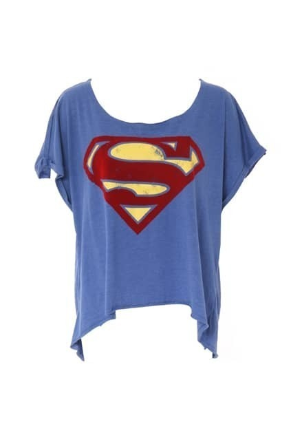 Superman Blue Oversized T-shirt