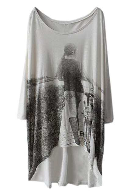 Scoop Neck Oversized T-shirt