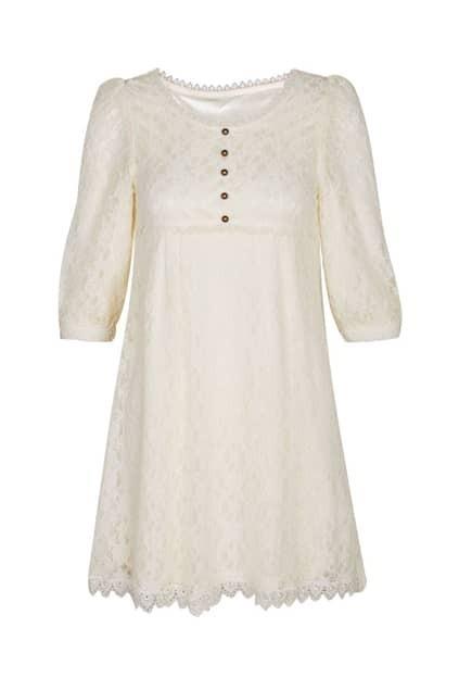 High Waist Lace Main Ivory Dress